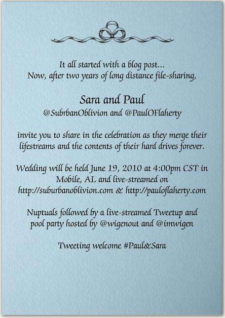 twitter wedding
