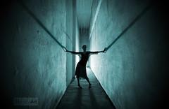 Shadows of the Past ( Damona-Art ..`..`) Tags: light woman abandoned leuven photoshop lost photography lightandshadows model nikon raw shadows belgium belgique decay secret flash wideangle mystical silhouet urbex d300 sigma1020 bookofsecrets strobist strobism damona