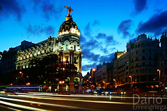 Metropolis (Deaerreio) Tags: madrid street city espaa lights luces calle spain long exposure sony ciudad via rey gran metropolis garcia alpha exposicion larga alcala dario erre aplha duelos mywinners a550 erreeigriega eigriega geaerreceia