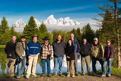 DCPT Grand Tetons Group (Wil_Bloodworth) Tags: friends people landscape photographers wyoming grandtetons jacksonhole jeffclow schwabacherlanding rickleche davidedwards dennismcintyre abellongoria idashum claudiadomenig 2010dcpt dirtcheapphototourscom wilbloodworth buckshrek hanswobbe