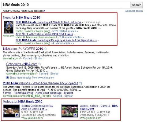 Google News SERP