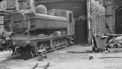 Barrow Road - 1965 (Boxbrownie3) Tags: heritage history bristol tank shed turntable steam locomotive 1960s railways pannier britishrailways barrowroad endofsteam