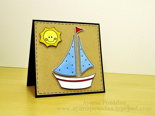 Mini- Sailboat Card