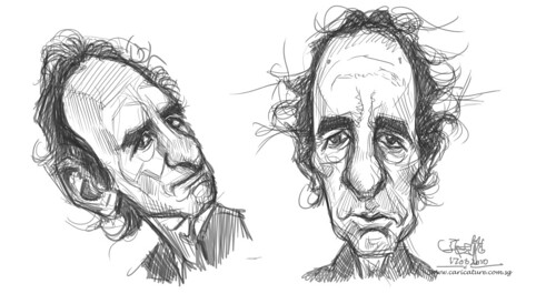 sketch study of Harry Shearer - 2