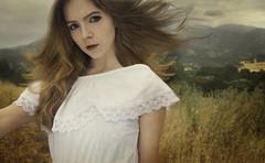 New Beginnings (Leah Johnston) Tags: california portrait mountains girl field clouds self dawn losangeles wind leah farm joy malibu hills fields johnston whitedress leahjohnson leahjohnston