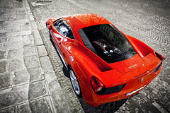 Ferrari 458 Italia [EXPLORE] (Valkarth) Tags: red paris france night canon rouge eos noche julien europe italia mark ferrari ii l 5d usm 75 rosso julius nuit scuderia f28 italie mk manfrotto 2010 mkii markii valk 458 1635mm trepied 5d2 valkarth fautrat xothum