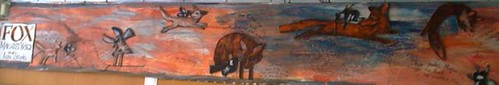 """Fox"" mural"
