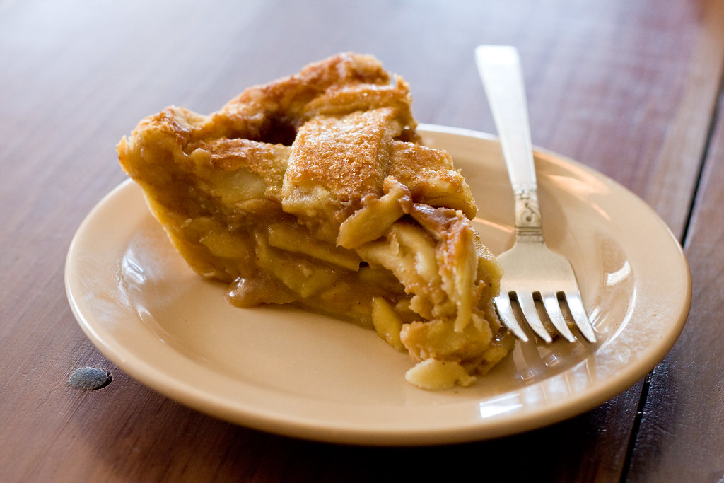 Apple and salted caramel pie, Four and Twenty Blackbirds
