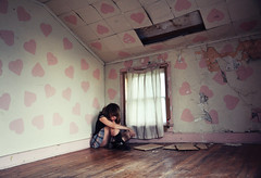 deadbrothers (yyellowbird) Tags: pink ohio house selfportrait abandoned girl wall hearts bedroom cari