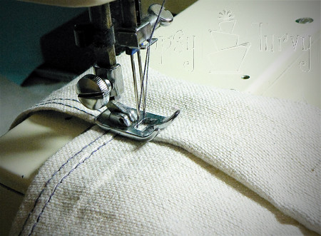 canvas satchel tutorial sewing second side
