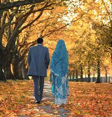 Autumn n Newly Weds (Asim237) Tags: uk autumn wedding fall manchester groom bride canon2470f28l pakistanibride 101010 bridengroom asianbride canon1dsmarklll asim237 thepowerofnow