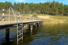 Badesteg (ThomasKohler) Tags: bridge autumn lake fall germany deutschland see herbst brcke steg bruecke feisneck seenplatte warenmritz mritzsee mueritzsee warenmueritz feisnecksee