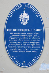 Photo of Ron F. Delderfield and Eric Delderfield blue plaque