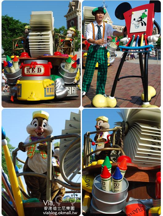 【香港迪士尼】跟著via玩香港(3)~迪士尼卡通人物歡樂巡遊12