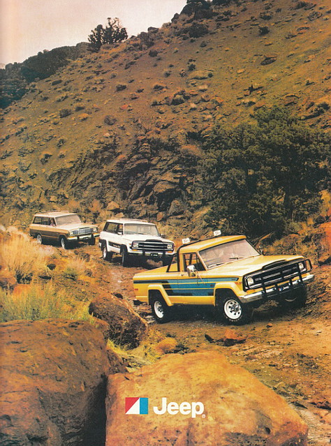 truck jeep 4wd pickup catalog amc 1980 brochure honcho wagoneer j10 cherokeechief