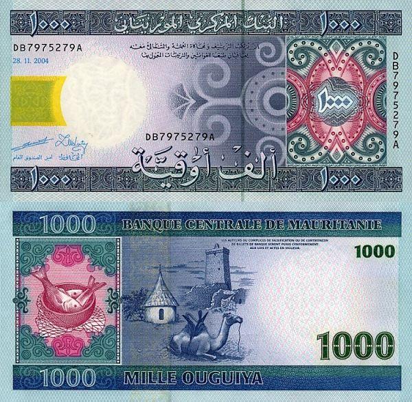 1000 Ouguiya Mauritánia 2004