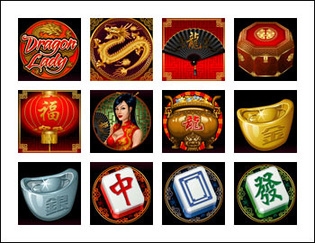 free Dragon Lady slot game symbols