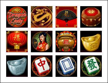 free Dragon Lady slot game symbols