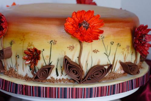 Fall flowers cake0022