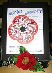 Remembrance Day - Poppy - Veteran's Week (November 5 - 11, 2010) (Enokson) Tags: school holiday signs canada france sign poster soldier reading book memorial war holidays remember peace edmonton library libraries military decoration books canadian read worldwarii worldwari displays poppy poppies signage posters fields soldiers remembranceday schools remembrance veteran firstworldwar bookdisplays worldwar veterans worldwar2 worldwar1 flanders armistice secondworldwar lestweforget juniorhigh flandersfields librarysignage november11 librarydisplays belgum bookdisplay librarysigns veteransaffairs teenspaces teenlibrary juniorhighschools middleschoollibrary middleschoollibraries schooldisplays teenlibraries vblibrary juniorhighschoollibrary juniorhighschoollibraries enokson veteransweek librarydecoration jenoksondisplay enoksondisplay jenoksondisplays enoksondisplays