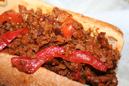 Italian faux-beef sandwich from Chicago's Ste Martaen food truck