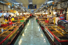 Jalgachi Seafood market indoor