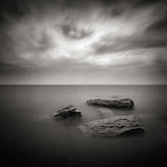 For A Moment I Was Not Alone (Jeff Gaydash) Tags: longexposure blackandwhite ontario canada water square seascapes greatlakes lakehuron lakescapes nd110