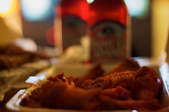 Hot Wings & Beer,  Day 113/365 (EspressoTime) Tags: art beer canon photography photo tv wings dof image bokeh photograph 365 project365 espressotime nathanharrison hotwingsbeer