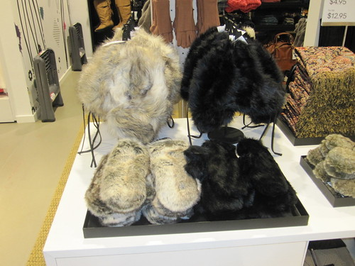 H&M faux fur booties