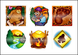 free Big Foot slot game symbols