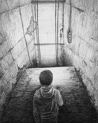 Deratus' Elevator (Marcos Telias) Tags: illustration drawing dibujo ilustración sketch boceto bosquejo arte artista artist ballpoint bolígrafo pen lápiz fantasy