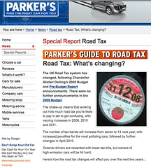 Parker's: but road tax was abolished in 1936