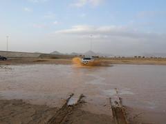 water hazard (shine_on) Tags: desert mud offroad 4x4 dunes toyota jeddah suv fj landcruiser saudiarabia cruiser rains  fjcruiser    bahra    feshfesh