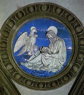 Andrea della Robbia, l'Evangelista Giovanni, 1491. Prato, Santa Maria delle Carceri