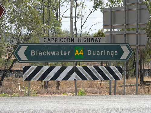 Capricorn Highway sign