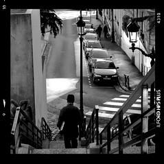 L'escalier (Artlove2010) Tags: polaroid noiretblanc puteaux champigny