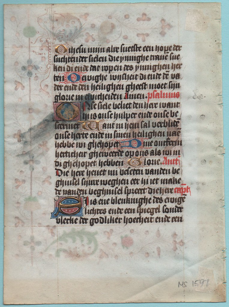 BOOK OF HOURS LEAF Ref 227 verso