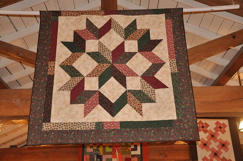 an amazing quilt display