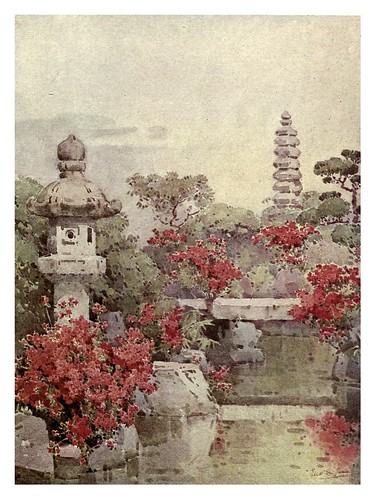 005- Azaleas en un jardin de Kioto-The flowers and gardens of Japan (1908)-  Ella Du Cane