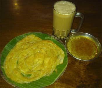 Roti Canai dan Teh Tarik khas India-Malaysia