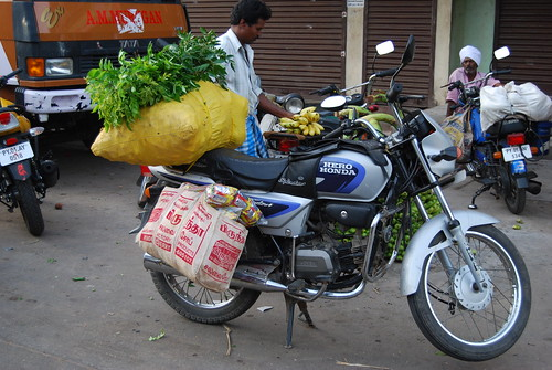 India taught me a lot about hauling stuff on a bike.
