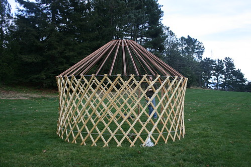 Yurt Frame Raising