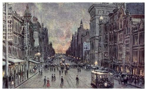 003-La calle Collins en Melbourne-Australia (1910)-Percy F. Spence