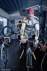 Backstage with Bart Wellens (kristof ramon) Tags: portrait cycling championship nikon belgium cx nikkor softbox manfrotto monopod malle 2470mm28 pocketwizard strobist bartwellens kramon teamtelenetfidea belgianchampionshipscyclocross2010 kramonbe