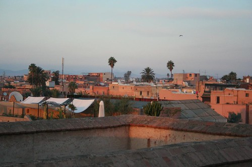 Photo of Marrakech exotic reddish skyline