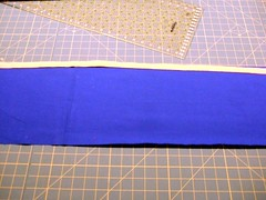 2-Fold accent lay on Ws of cuff, raw edges matching