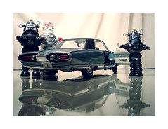 What Robots drove. (Michael Paul Smith) Tags: car toys robots chrysler windup turbine diecast
