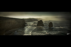 12 Apostles Sunrise, VIC (2nd trip) (hangingpixels-OLD ACC) Tags: ocean cloud beach water rock sunrise sand wave australia victoria limestone vic greatoceanroad filters 12apostles holder cokin gradnd graduatedneutraldensity zpro z121m