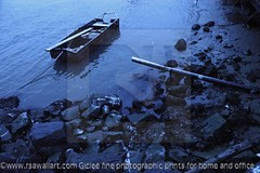 Rowing boat on the sea shore (RSA WALL ART) Tags: usa newyork cold w