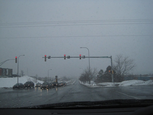 Intersection in Snow Storm